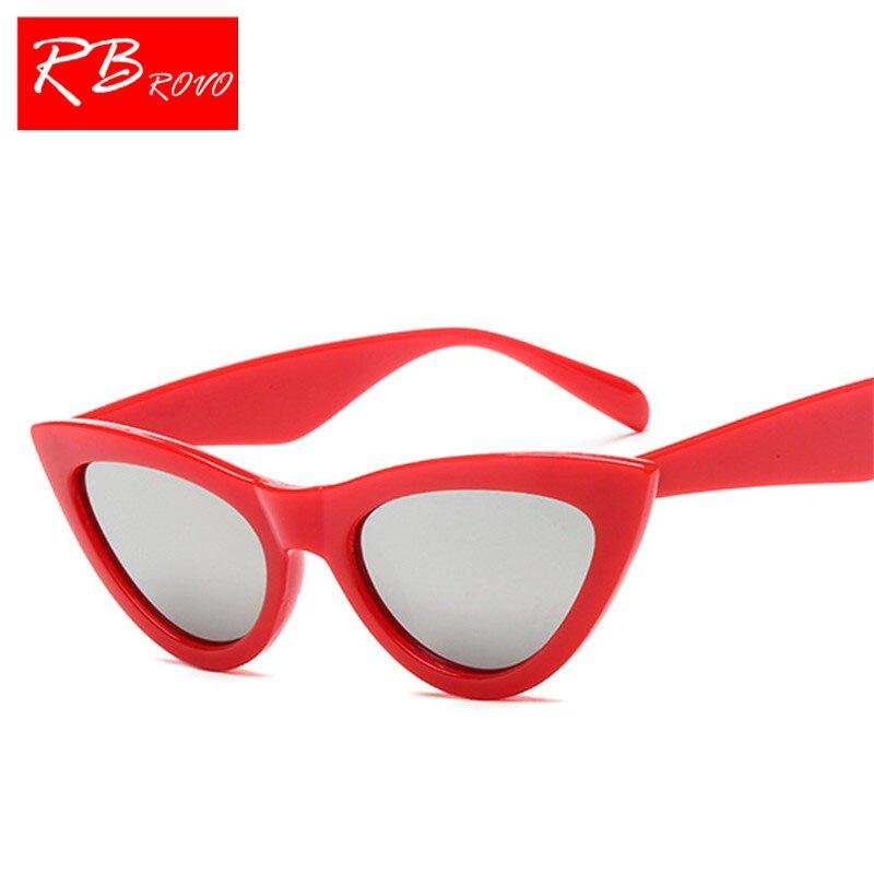 RBROVO 2018 Classic Cateye HD Sunglasss Women Small Frame Vintage Sun Glasses Men Outdoor Driving Goggles Oculos De Sol UV400