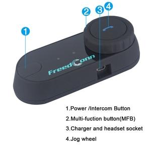 Image 3 - מקורי FreedConn TCOM OS אופנוע אינטרקום Bluetooth קסדת אוזניות T COM OS 2 רוכבים FM BT האינטרפון Intercomunicador