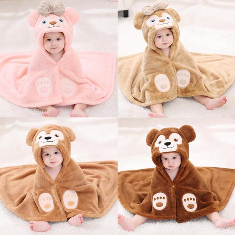 Newborn Baby Duffy Bear Bathrobe Infant Sleep Robes Hooded For Boys Girls Warm Babe Animal Cartoon Sleeping Embrace Pajamas