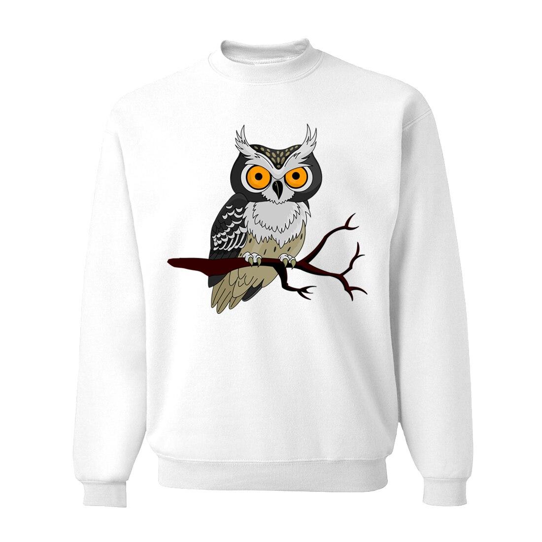Owl Sweatshirts Hoodies Men Spring Animal Hoodie Sweatshirt 2019 Hot Mens Harajuku Hoodies Black Gray White Blue Streetwear CM01