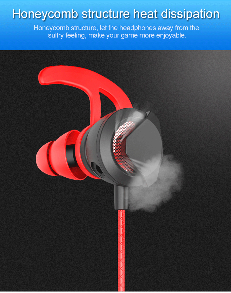 Wired Earphone With Micphone For Computer Mobile Phone Games Wired Headset Hifi Earphone In-ear Earphone Wired Gaming Headset   (14)