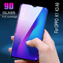 100pcs  Film 9D Full Cover Tempered Glass For OPPO  K1  K3 A9 Screen Protector   Anti Blue Ray   Glass film 100pcs dental universal x ray film mount frame 100pcs 2holes