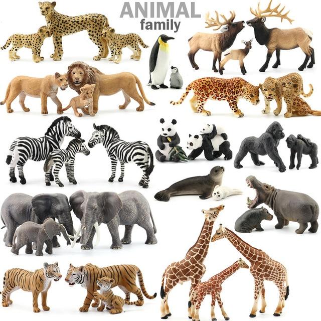 0d2abab45b5750 Originele sealife boerderij wilde afrikaanse Savanna dieren koning tijger  leeuw warthog nijlpaard neushoorn familie sets simba