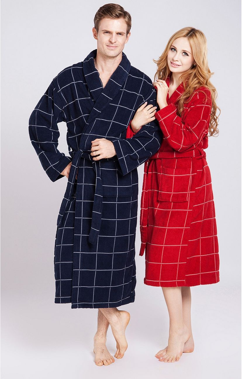 Women\'s Mid-Calf Cotton Sleep Lounge Robes RBS-D RB17 6
