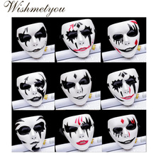 WISHMETYOU New Halloween Christmas Party Makeup Dance Party Mask Ghost Dance Hip Hop Mask Men's clowns Cosplay Hand painted Mask discofox dance party 2 cd