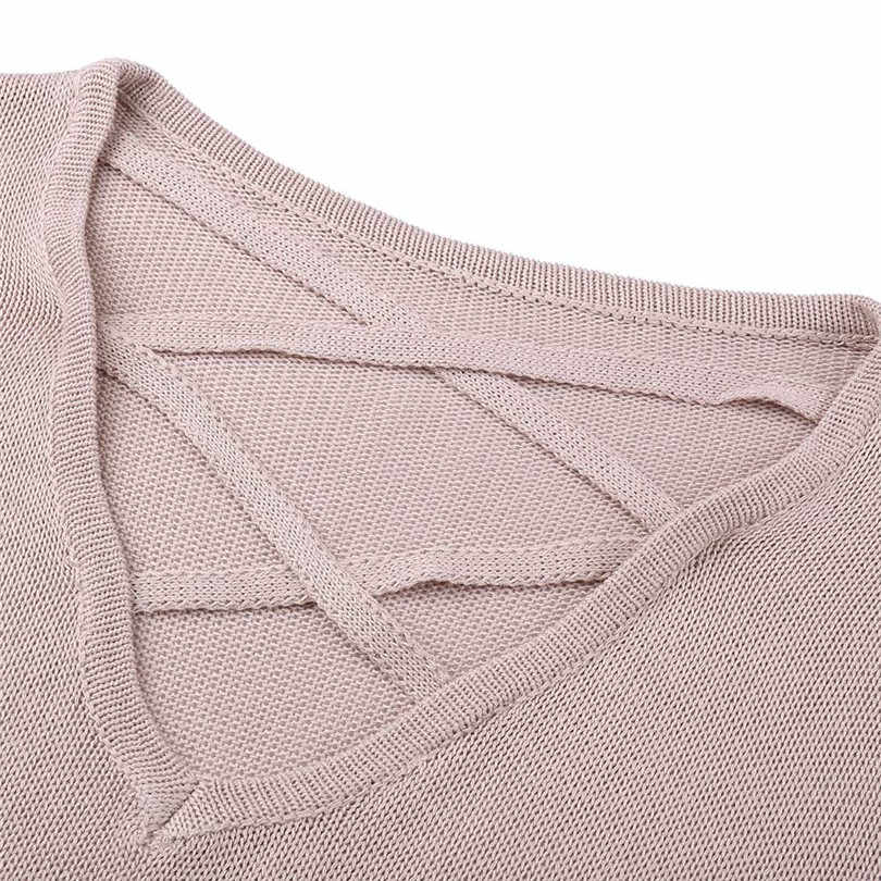 9e09816ad96f0 ... Pullover Women Casual Bandage Sweater Long Sleeve Pullover Loose Knitted  Sweater Sueter Mujer Outwear Wholesales ...