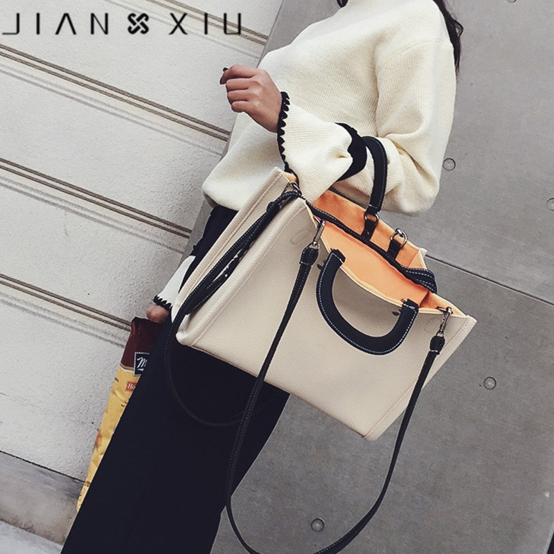 2018 Ins New Popular Casual Tote Leather Handbag Luxury Handbags Women Bags Ladies Handbag Shoulder Bag Big Tote Shopping Bags women canvas patchwork handbag high quality brand luxury ladies tote bags big casual shopping female shoulder bag bolsos mujer