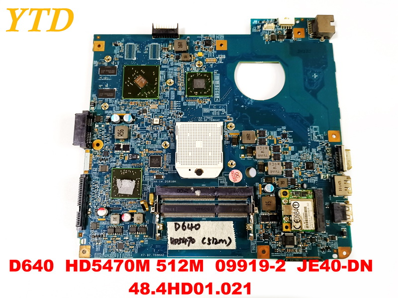 Original for ACER 4551 D640 laptop motherboard D640 4551 HD5470M 512M  09919-2  JE40-DN 48.4HD01.021 tested good free shippingOriginal for ACER 4551 D640 laptop motherboard D640 4551 HD5470M 512M  09919-2  JE40-DN 48.4HD01.021 tested good free shipping