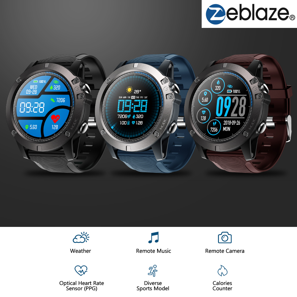 Zeblaze VIBE 3 PRO Color Touch Display Sports Smartwatch PPG Heart Rate Waterproof Weather Smart Watch For iPhone Xiaomi SamsungZeblaze VIBE 3 PRO Color Touch Display Sports Smartwatch PPG Heart Rate Waterproof Weather Smart Watch For iPhone Xiaomi Samsung
