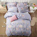 Fashion style bedding set 3/4pcs Twin/Single/Double/Queen size Branch Leaf Floral duvet cover+bedsheet+pillowcase linen bedcover