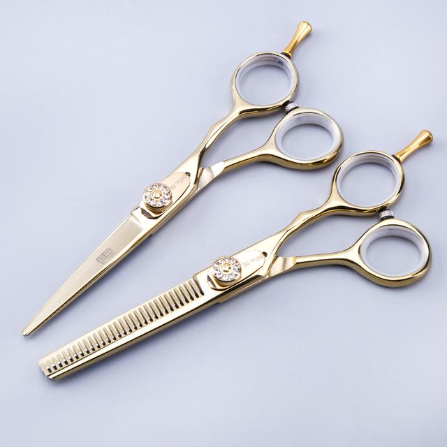 SI YUN 5.5 pulgadas (15.50 cm) longitud GD55 modelo de peluquería tijeras combinación establecidos