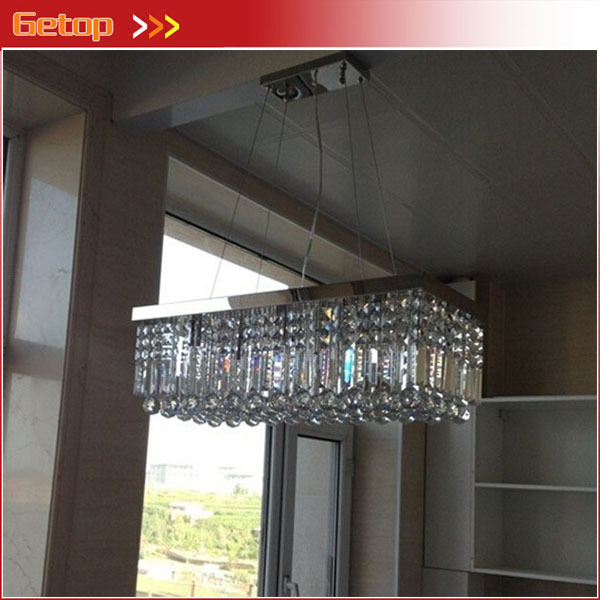 New Modern Luxury K9 Crystal Chandeliers L39.5 X W10 X H10 Rectangle Pendant Lamp Ceiling Lamp LED Fixture Lighting luxury k9 crystal chandeliers lighting fixture with different size free shipping