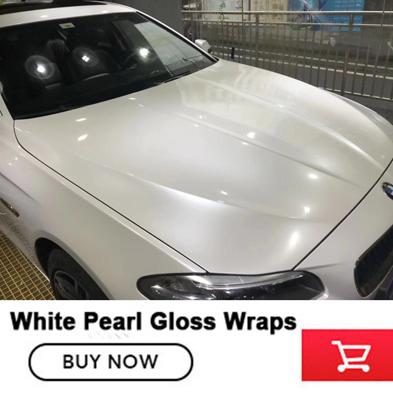 Glossy Pearl White gloss Vinyl Wrap With Air Bubble Free Gloss Pearl Film For Car Styling Vehicle Size 1.52*20M