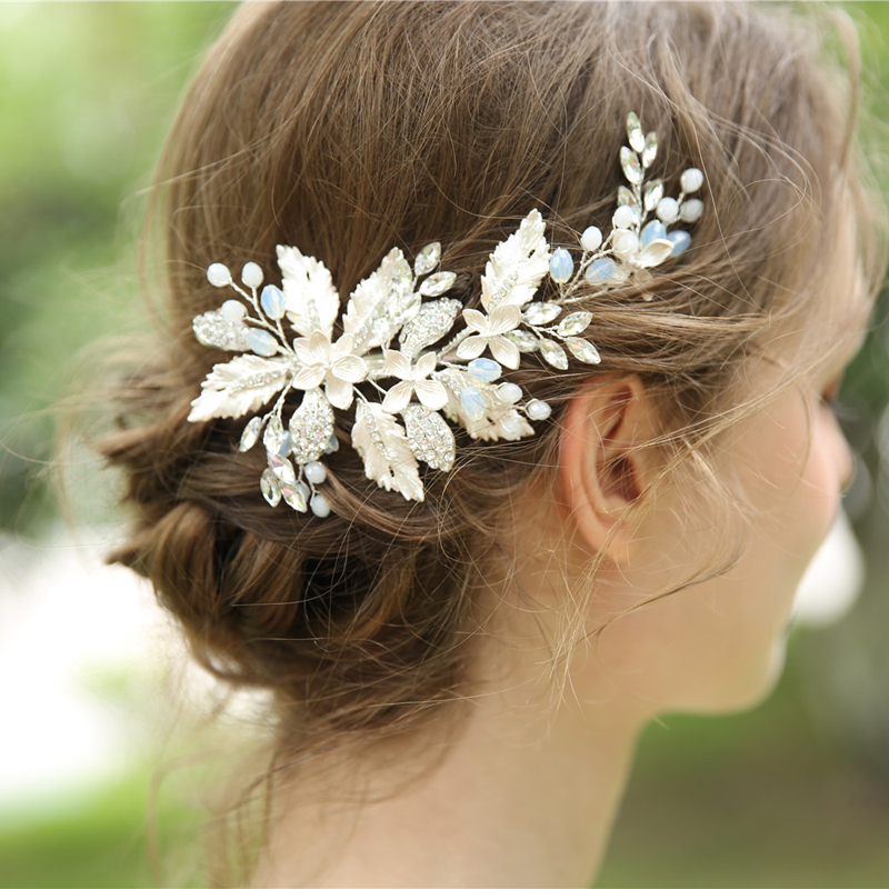 Bridal <font><b>Hair</b></font> <font><b>Accessories</b></font> Tiara <font><b>Wedding</b></font> <font><b>Hair</b></font> Comb Clip Flower Women <font><b>Wedding</b></font> <font><b>Hair</b></font> Jewelry Headband Pearl Rhinestone Bride <font><b>Headpiece</b></font> image