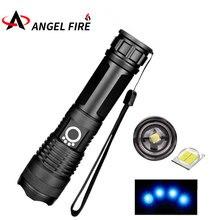 50 000 lumen bulb strongest flashlight USB zoom LED flashlight xhp50 18650 or 26650 battery best camping outdoor defense