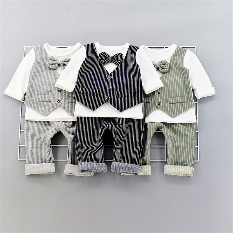 New Arrival Handsome Boys Gentleman Suit 2PCS Children's Formal Occasion Clothing Set Kids Wedding Party Boys Outfits мужские часы citizen ca0288 02e