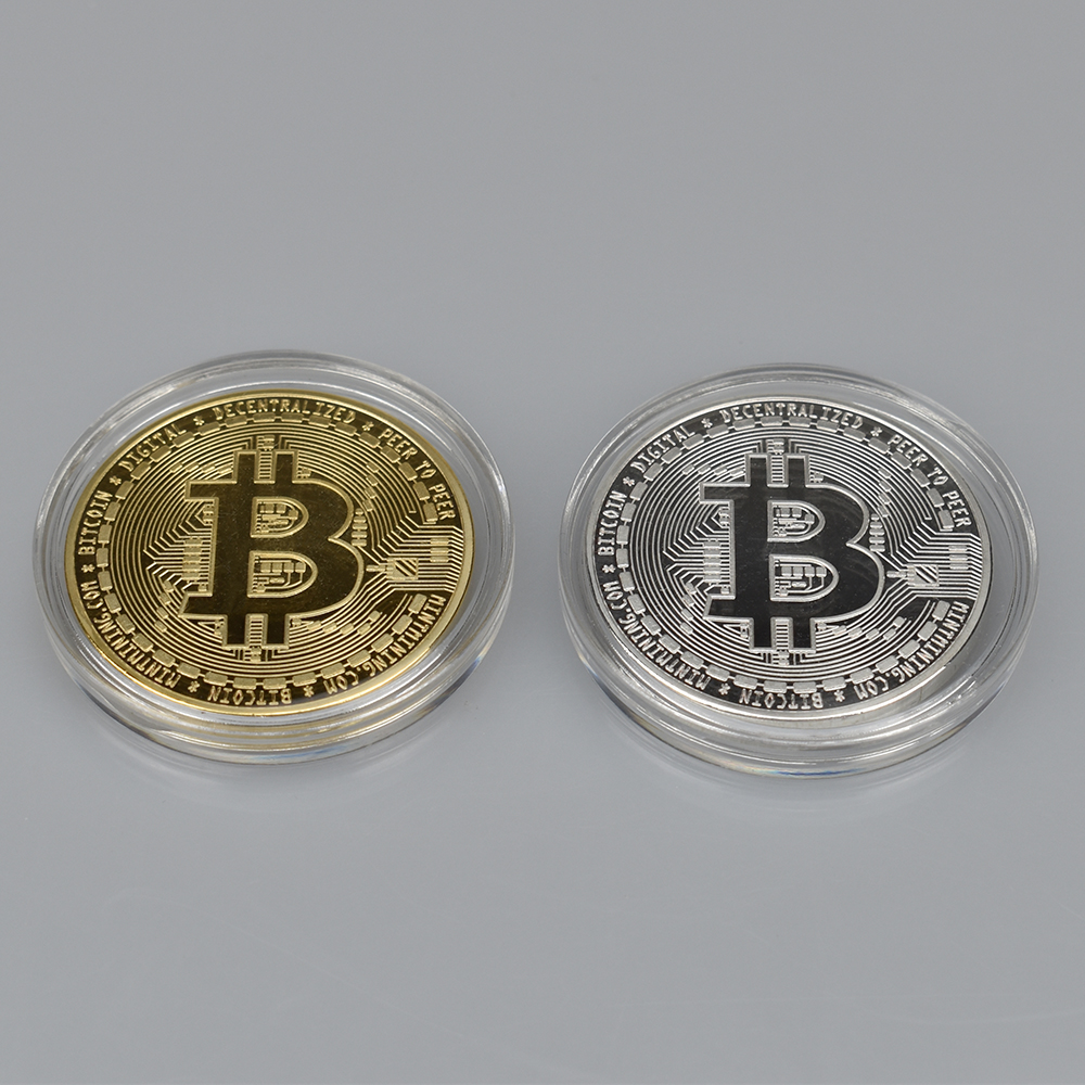 Bitcoin ...Physical Commemorative Coin...24K Gold Plated..With Case...w// COA