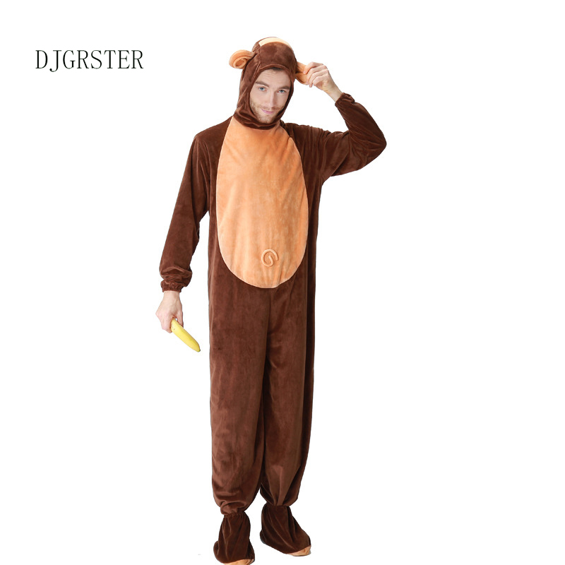 DJGRSTER Adult Animal Halloween Cosplay Costumes Monkey Plush Animal Costume For Men Halloween Jumpsuits Costumes-in Game Costumes from Novelty u0026 Special ...  sc 1 st  AliExpress.com & DJGRSTER Adult Animal Halloween Cosplay Costumes Monkey Plush Animal ...
