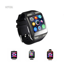 Bluetooth Smart watches Q18 SmartWatch Support Sim TF Cards ip67 Passometer Camera for Android IOS Phone Smart watch men women(China)