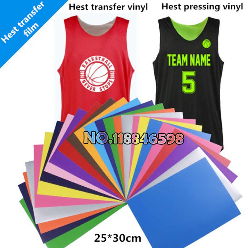 "250*300mm ((10 ""X 12"")) Pu flex warmteoverdracht vinyl film voor T-shirt Warmte Tranfer Film DIY T-shirt"