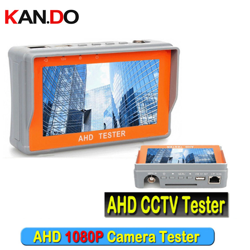 Portable 1080P AHD CCTV Tester 4.3 Inch AHD 2.0 Camera Testing UTP Network Cable Test NTSC/PAL CCTV HD Tester Monitor 12V Output pro skit taiwan bao mt 7062 hdmi cable measuring tester test