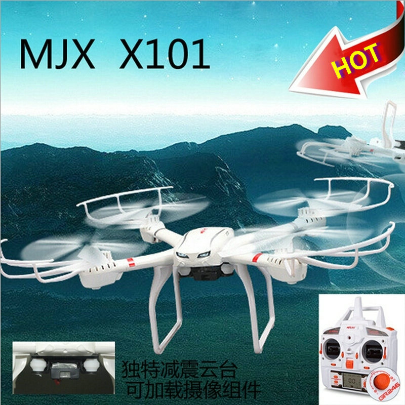 MJX X101 RC Drone x101  6-Axis Gryo RC Quadcopter Headless Mode & One Key Return with/ without FPV Camera C4005 Free shipping