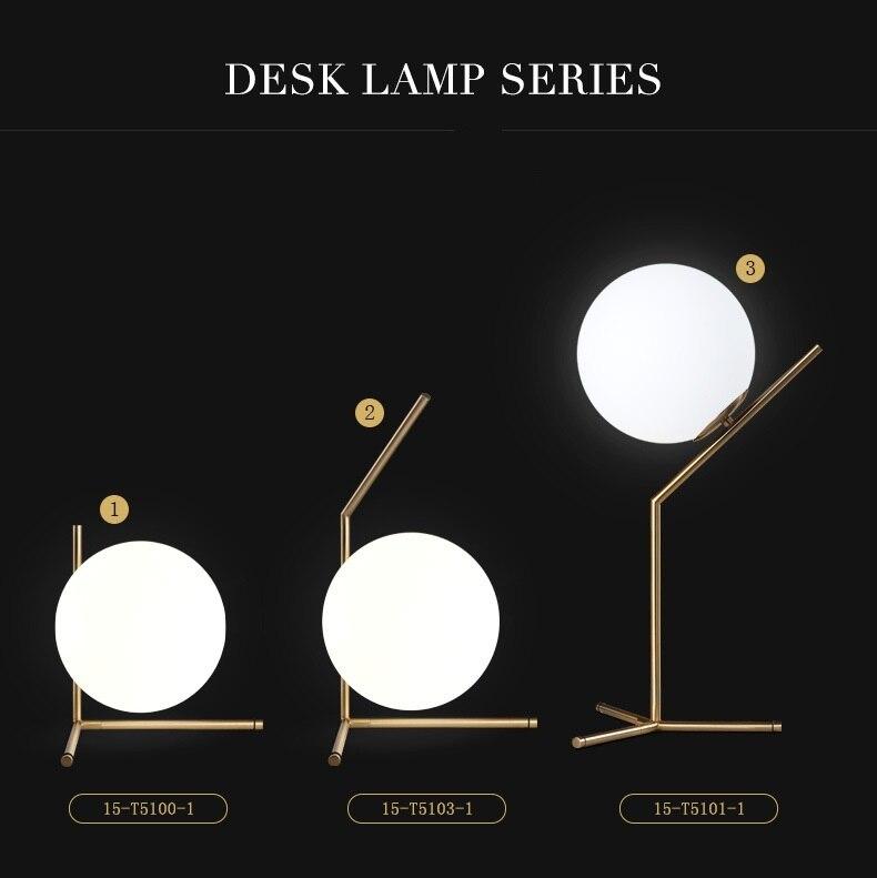 Modern LED Table Lamp Desk Lamp Light Shade Glass Ball Table Lamp Desk Light for Bedroom Living Room Floor Bedside Gold Designs