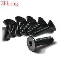100pcs/lot DIN7991 M3*22/25/28/30/32/35/38/40/45/50 Grade10.9 Hex Hexagon Socket Flat Countersunk Head machine screw