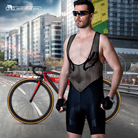 Santic Men Cycling Bib Shorts Cool Black Pro Fit Italian Imported Fabric Cushion Pad Breathable Quick