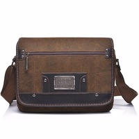 High Quality Durable Canvas Cross Body Shoulder Bag Men Vintage Messenger Tablet PC Bags Designer Brand