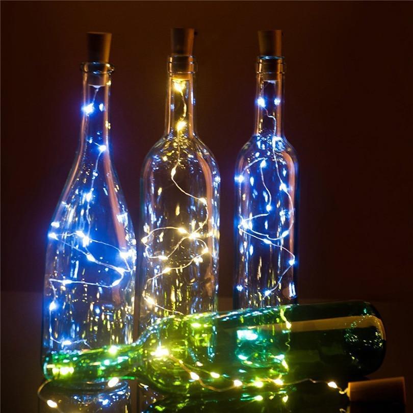 2M 20LEDS زجاجة النبيذ كورك الصمام سلسلة - إضاءة عطلة