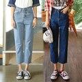 2016 Newest Autumn Harajuku Denim Wide Leg Pants Women Vintage Plus Size Elastic Boyfriend Jeans Loose Causal Pantalon Femme