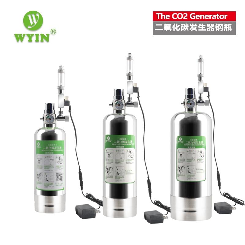 Wyin Aquarium DIY CO2 Generator System Kit With Pressure Air Flow  Adjustment Water Plant Fish Aquarium ValveDiffuserThe reaction