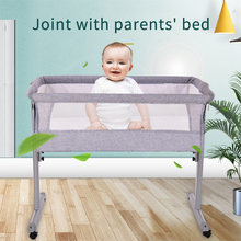 Baby Portable Bed Crib Adjustable Multi-function Soft Breathable Baby Cradle Bed Newborn sleeping bed Can connect big beds(China)