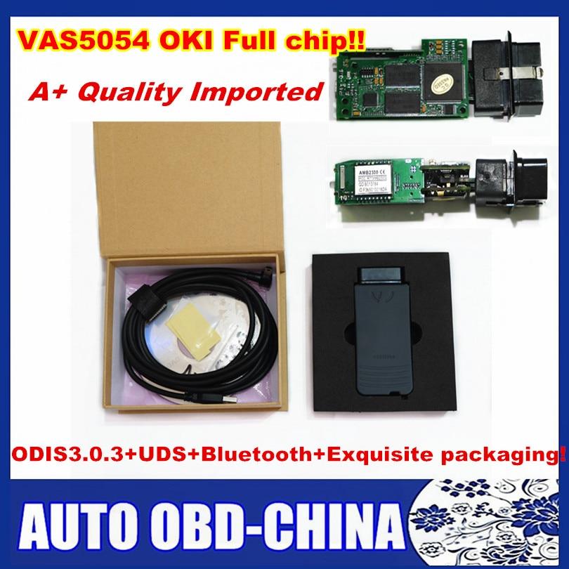 Цена за 5 шт./лот DHL VAS 5054A полный OKI чип ODIS V3.0.3 bluetooth инструмент диагностики VAS5054A Импортные высокое качество VAS5054