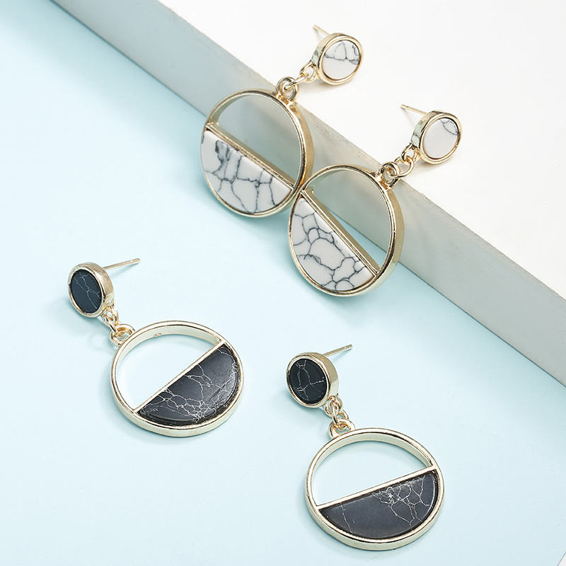 Simple Style Fashion Silver Gold Color Earrings for Women Square Round Geometric Hanging Earrings 18 Female Pendientes Jewelry 36
