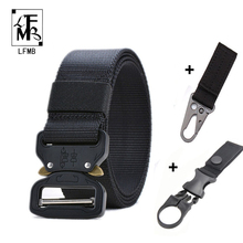 [LFMB]Tactical Belt Set Military Nylon Outdoor Belts Men Training Metal Tactical Strap Sets Hunting Accessories