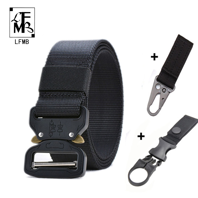 [LFMB]Tactical   Belt   Set Military Nylon Outdoor   Belts   Men Training   Belt   Metal Tactical Strap Sets Hunting Accessories