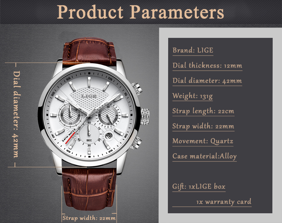 Reloj LIGE deportivo de moda 7