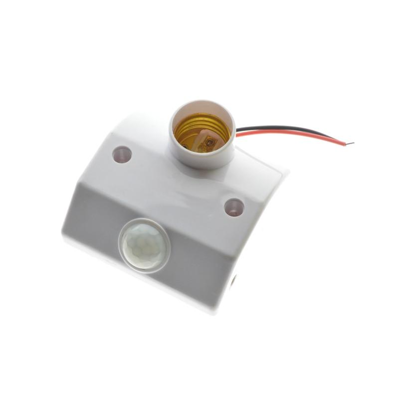 1x E27 PIR Motion Sensor LED lamp Base Holder AC170 - 250V With light Control Switch Infrared Induction Bulb Socket