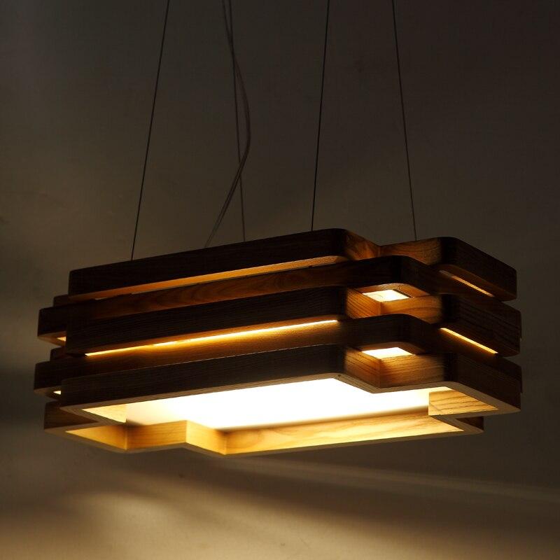tienda online comedor dormitorio de la lmpara colgante iluminacin rectangular de madera maciza lmpara de mesa de comedor ikea nordic art chandelier