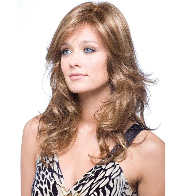 Мода Sexy Hair Парики Пушистые Волны Парик Фронта Шнурка Glueless Полный Парик Шнурка Женщин