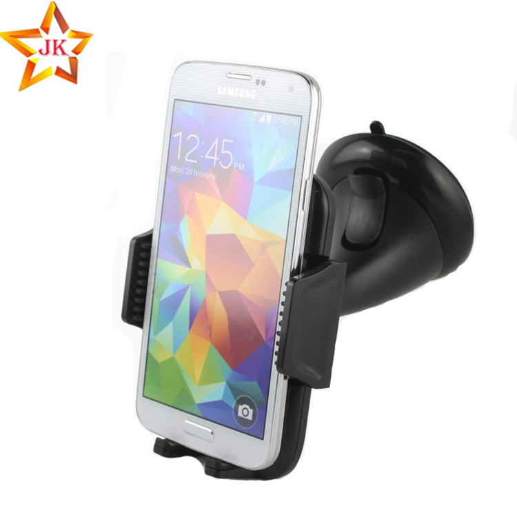 Universal 360 degree car cell phone holder plastic mobile mount stand for Iphone 6 plus 5 4s galaxy s5 samsung GPS Car DVR 360 degrees