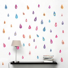 Water Droplets Alphabet Wall Stickers A To Z 26 English Letters Art Decal For Kids Room Classroom PVC DIY Home Decoration