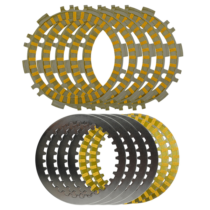 A set Motorcycle Engine Parts Clutch Friction Plates & Steel Plates Kit For YAMAHA <font><b>T</b></font>-MAX500 TMAX500 <font><b>T</b></font>-MAX / TMAX 500 image