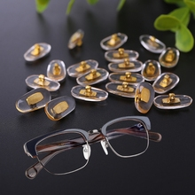 Hot New 10 Pairs/Lot Golden PVC Glasses Anti Slip Aluminum Conductor Silver Nose Pads for Men Women High Quality