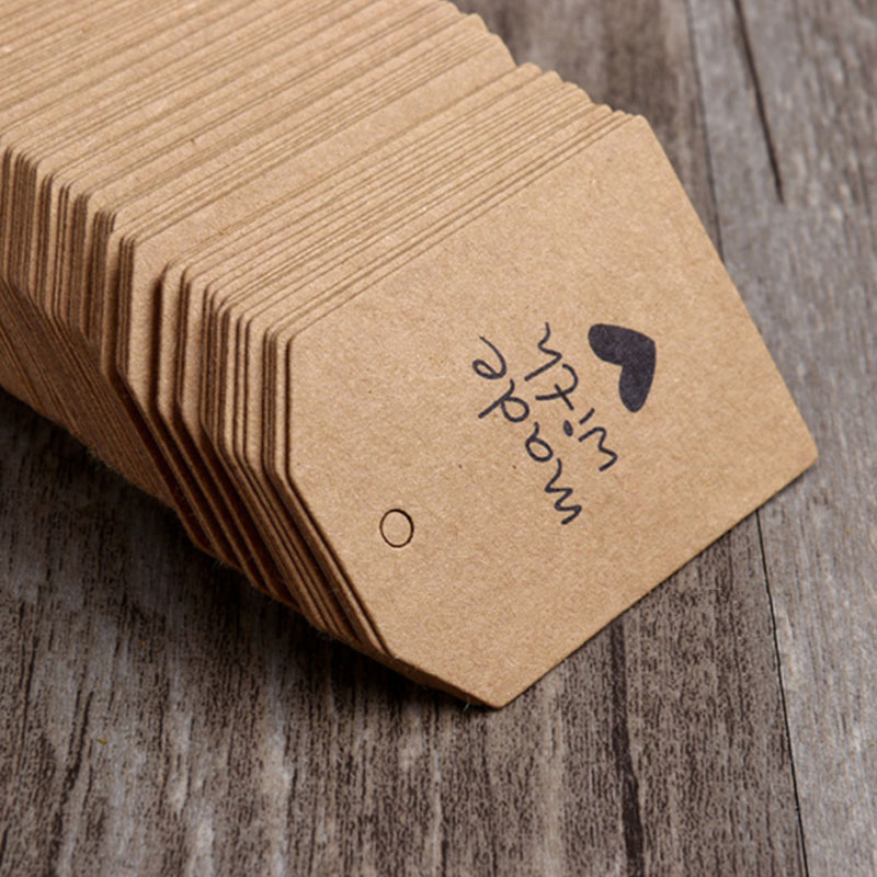 Cost Extra Custom Logo Hang Tag Jewelry Love Heart DIY Making Hand Made Tag Gift Packing Box