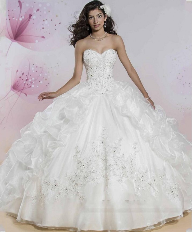 Wedding White Quinceanera Dresses popular dress quinceanera white buy cheap luxury dresses 2016 beaded rhinestones skirt softly tulle ball gowns for 15 years sweet