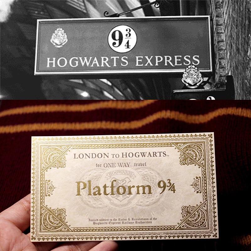 1 Pcs Harry Movie Hogwart London Express Replica Train Ticket  10.8*6.2 Cm Platform 9 3/4