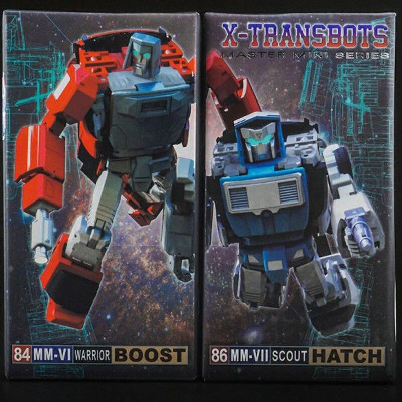 (IN STOCK) Toy X-Transbots - MMVI Warrior Boost & MMVII Scout Hatch